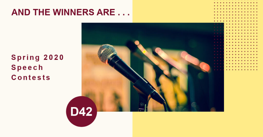 D42 Online Speech Contests 2020 Winners