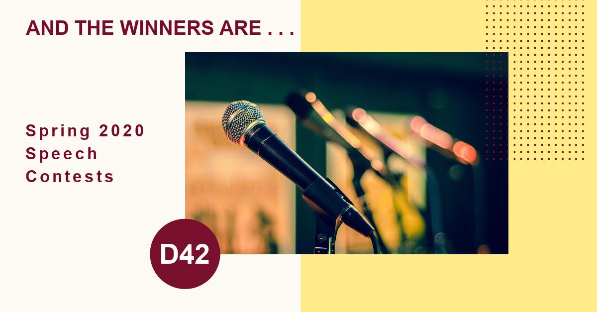 Speech Contests Winners