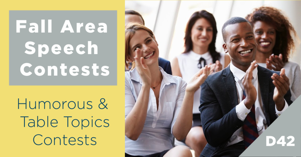 Fall 2020 – Humorous & Table Topics Speech Contests