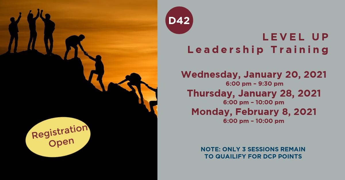 Leadership Training Dates