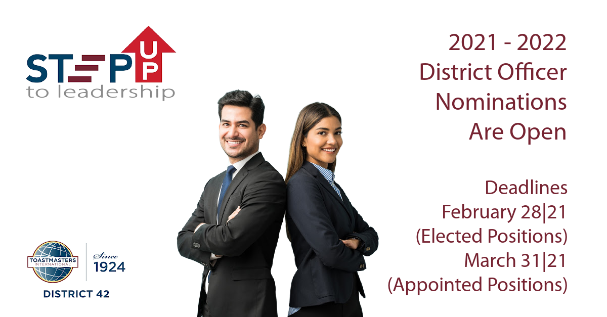 Step Up To District 42 Leadership