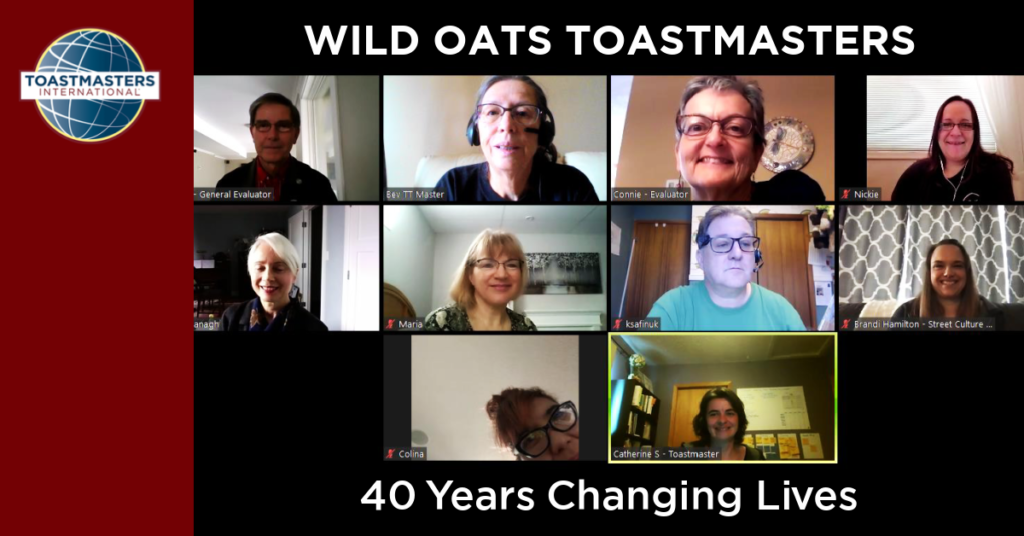 Wild Oats Toastmasters: 40 Years of Shaping Lives