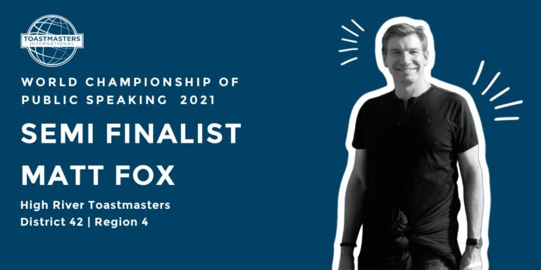 Matt Fox Semi Finalist WCPS